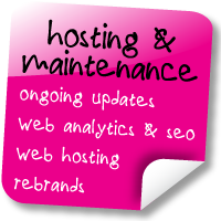 Ask us about hosting or maintenance for your site